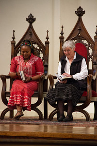 Silindile Twala and Sister Sheila on the Chancel