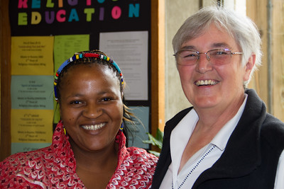 Silindile Twala, Kopanang Project Director, with Sister Sheila Flynn