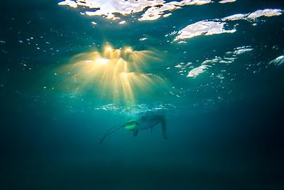 Surfers light