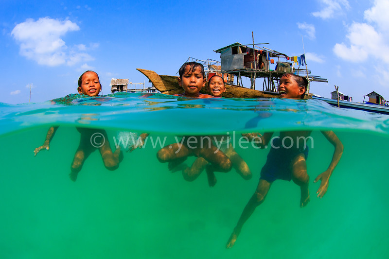 Kids of Sea Gypsies (海上吉普賽) @ Semporna Marine Park, Sabah, Malaysia (馬來西亞 沙巴 仙本那海洋保護區)