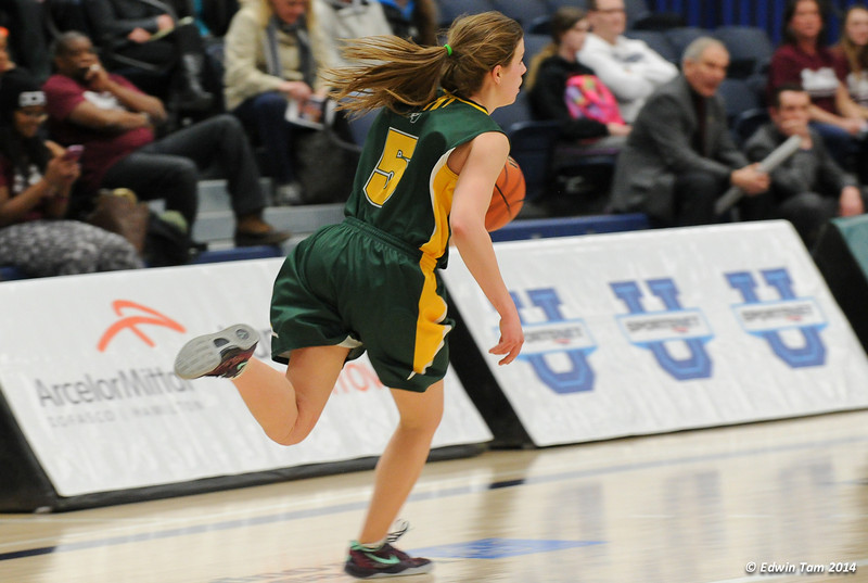 Game 1 of the 2014 CIS Women's Basketball Championships held at the University of Windsor, Windsor, Ontario, Canada. Game 1 - St. Mary's Huskies versus the University of Alberta Pandas on March 14, 2014. The St. Mary's Huskies won 71 to 51.
