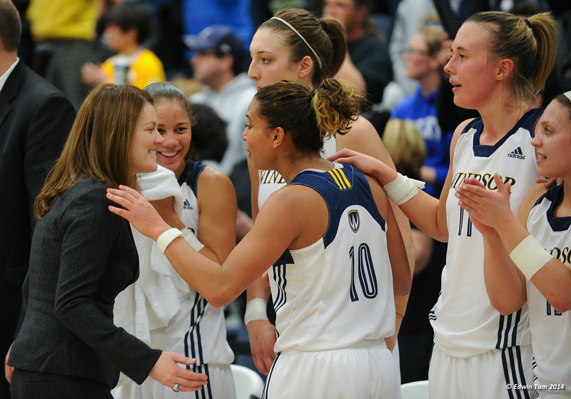Game 11 of the 2014 CIS Women's Basketball Championship held at the University of Windsor, Windsor, Ontario, Canada. St. Mary's Huskies vs the University of Windsor Lancers in the final Gold Medal Game on March 16, 2014. The Lancers won convincingly 71 to 45.