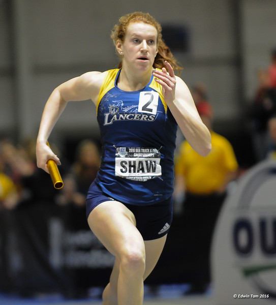 Ontario University Athletics (OUA) Provincial Track and Field Championship held at the University of Windsor's Dennis Fairall Field House on February 26-27, 2016.