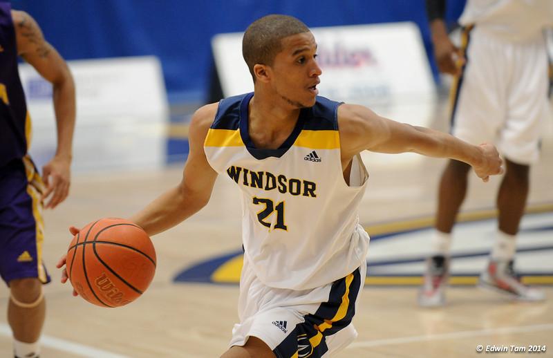 UWindsor Mens Lancers Basketball vs Laurier Golden Hawks at St. Denis Centre, University of Windsor on February 22, 2014, OUA West Semi-Finals.