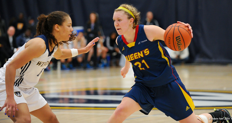 OUA Provincial Championships in Women's Basketball: Queen's Gaels vs Windsor Lancers on March 8, 2014 at the St. Denis Centre, University of Windsor. The Lancers won 73 to 48, and now head to the CIS Championships.