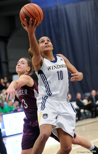 UWindsor Womens Lancers Basketball vs McMaster Marauders at St. Denis Centre, University of Windsor on February 22, 2014, OUA West Semi-Finals.