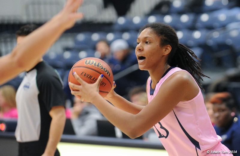 Womens Basketball Lancers vs Brock Badger at St. Denis Centre, University of Windsor on January 18, 2014, Breast Cancer Awareness Day. The Lancers won 87 to 65.