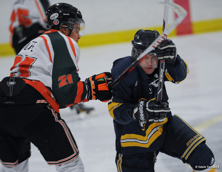 University of Windsor Lancers vs UQTR in Men's Hockey at South Windsor Arena on November 15, 2013. UQTR won 6-1.