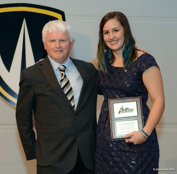 University of Windsor Lancers Awards Banquet on April 2, 2014 at the St. Clair Centre for the Arts, Presented by Investors Group.