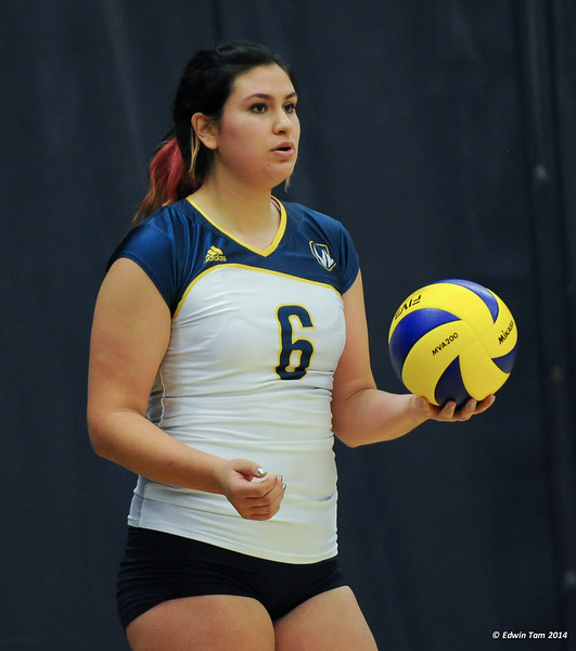 Women's Volleyball UWindsor Lancers vs Guelph Gryphons on October 31, 2014. The Gryphons won 3 sets to 2.
