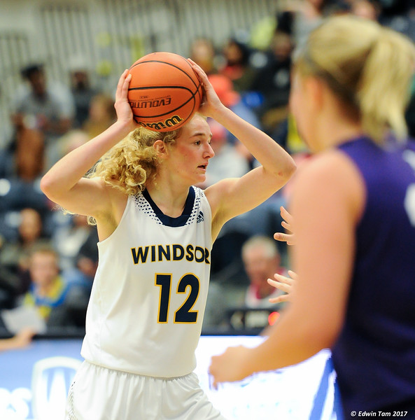 Lancers Women's Basketball against Western Mustangs at the St. Denis Centre on January 11, 2017. It was Island Night, and the Lancers won 70 to 48!