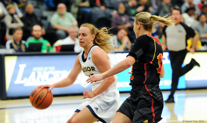 Guelph Gryphons vs Windsor Lancers in Womens Basketball November 16, 2016 at the St. Denis Centre. The Lancers dominated, winning 89 to 42. .