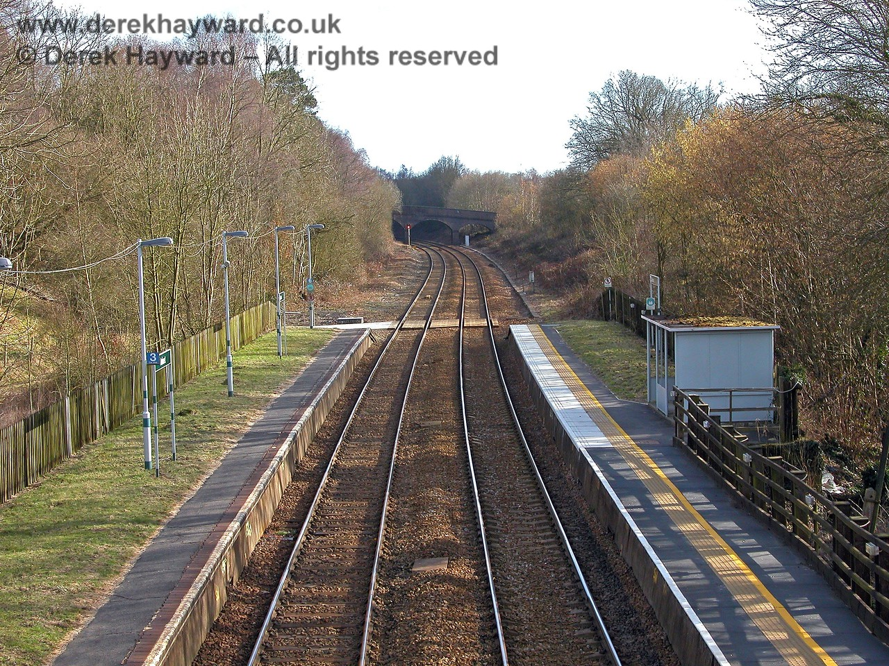 Looking south from Ashurst towards Eridge and Uckfield. 19.03.2006