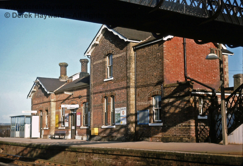 Buxted station building, 14 01 1976 E