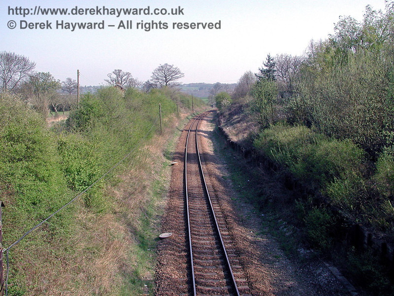 Looking south towards Ashurst from the same bridge. 18.04.2003