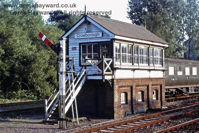 Crowborough signal box, July 1989 E