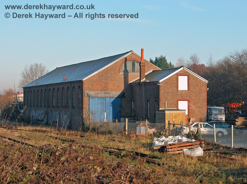 This view of the goods yard from a slightly different angle shows the very significant size of the building. 07.12.2005