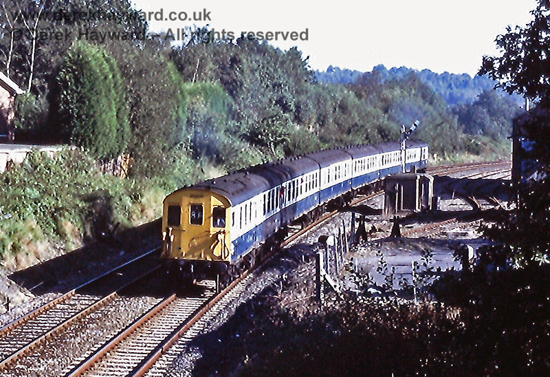 202001 departing Crowborough on Sat  26 09 1987 (East Grinstead line gala day) with the 09 19 ex Oxted to Uckfield E2