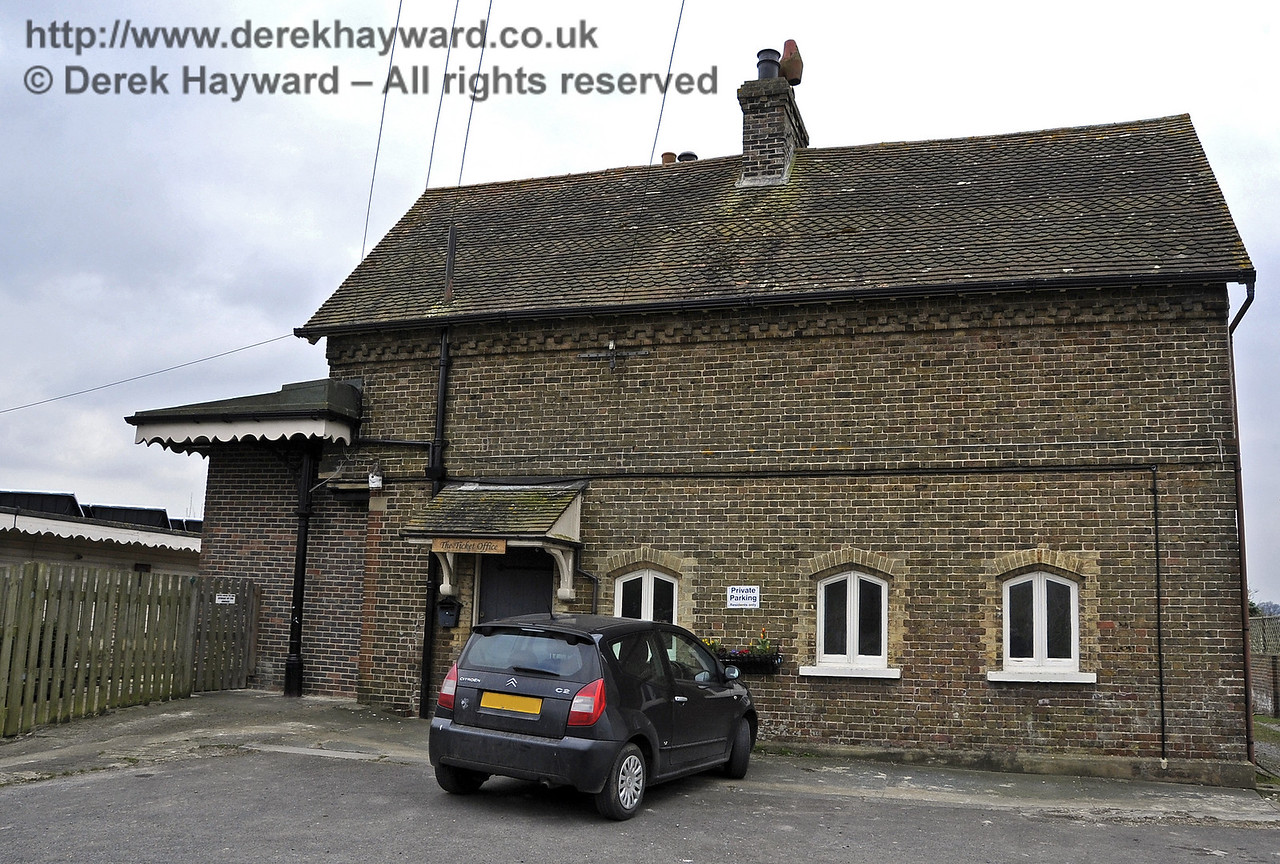 Barcombe Mills Station building.  Please note that this building is private property.  03.04.2013  6569