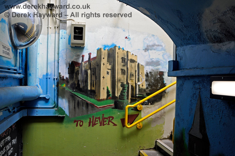 The subway at Edenbridge Town station has been painted by a number of artists.  This (obviously) is the nearby Hever Castle. 30.05.2021 20740
