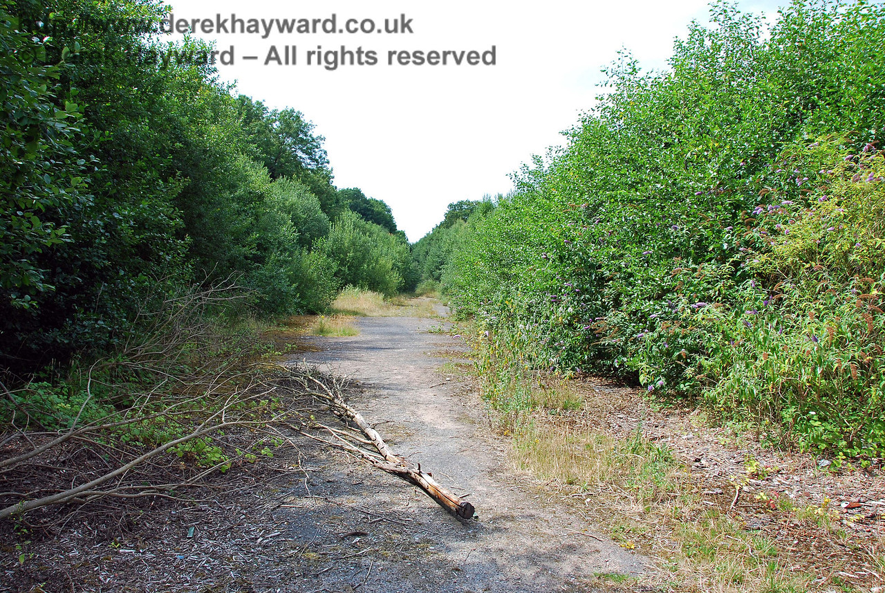 This view looks back west through the old goods yard from the eastern end of the station. There is nothing left. Uckfield Old Station 27.07.2008