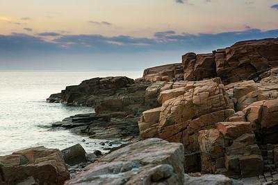 38 The cliff coast - 85x115cm cicléprint black frame, passepartout  and museum glass
