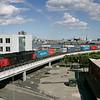 Schenker godstog på den nye havnebane i Århus.<br /> 3.6.09<br /> © Foto: Jens Hasse/Chili<br /> Dato: <br /> Chili foto & arkiv