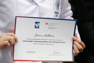 2020 оны арваннэгдүгээр сарын 06. Зориг сан ТББ, Швейцарын хөгжлийн агентлагиас их, дээд сургуулийн оюутнуудад тэтгэлэг гардууллаа. ГЭРЭЛ ЗУРГИЙГ Г.ӨНӨБОЛД/МРА