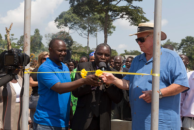 ribbon cutting for the opening of the school
