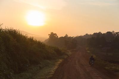 Boda boda (motorcycle) at sunrise