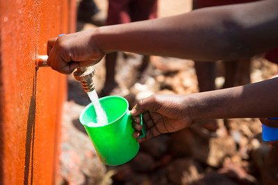 clean water from the new well