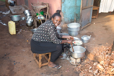 """My new friend, Rita, whom I met while stopping for breakfast in """"downtown"""" Buikwe."""