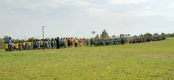 School celebration of their 1st Sports day
