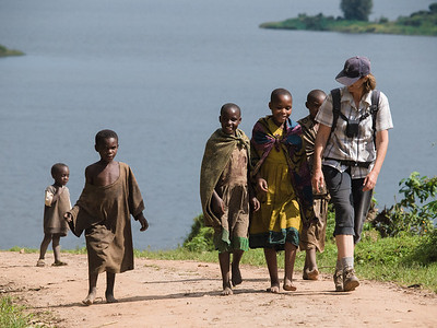 Girls near Lake Mutanda