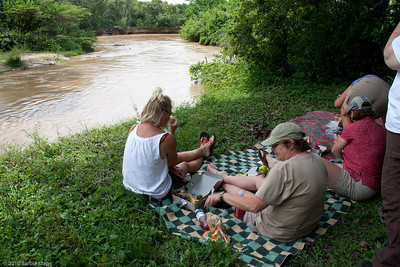 picnicing across from the country of Congo
