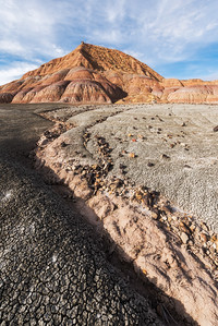 Disguised as merely a maze of oil & gas roads, the badlands of Uintah County offer some of the most unique and colorful landscapes one will ever see. As you wander along in places with names such as Fantasy Canyon and the Devil's Playground, you'll likely come across groupings of rock that appear to have been artistically placed by human hand.