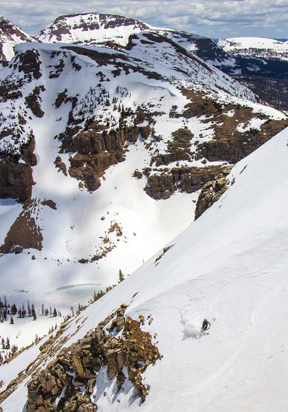 Skiing in the Uintas