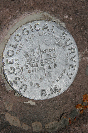 Gilbert Peak Summit marker 13,449 ft  Utah's 3rd highest peak