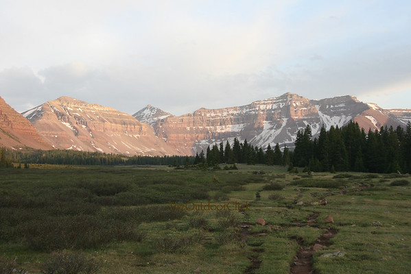 Backpacking Uintas Kings Peak and the surrounding 13,000 ft Peaks