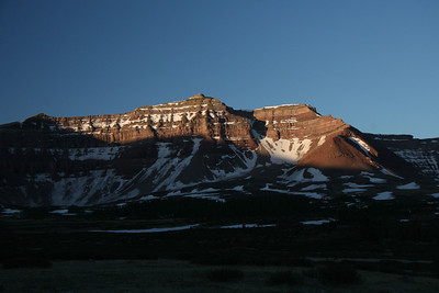Morning light Fortress peak