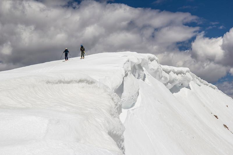 Summit skiers