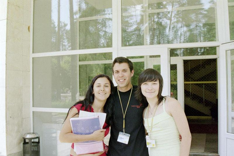 Me with Karina and Katya
