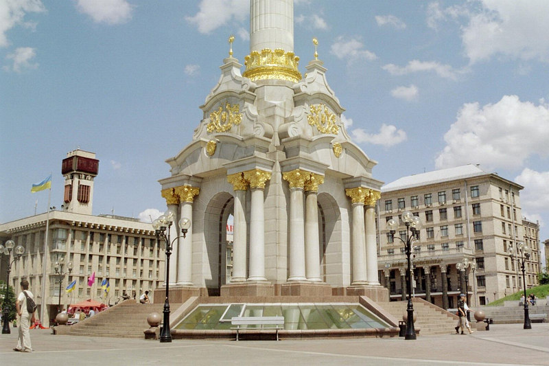 The monument at Independence Square.