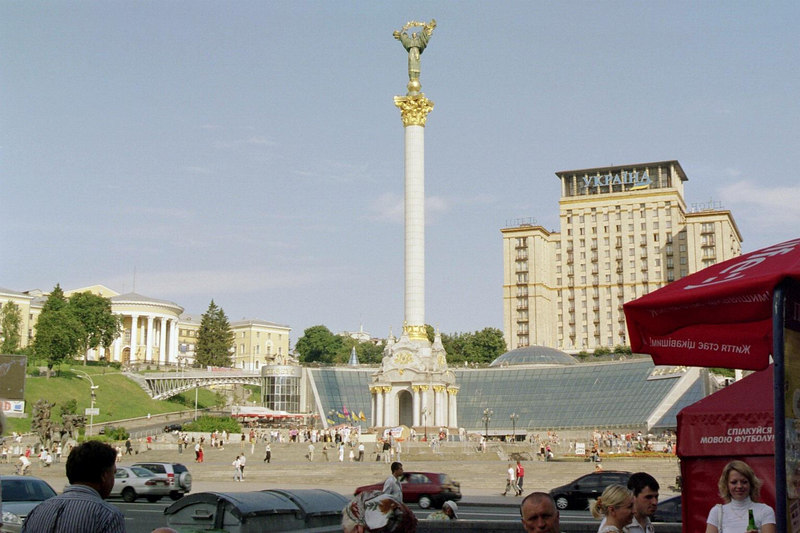 Another view of the monument at Independence Square.