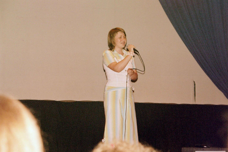 Olya singing