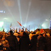 New Year's at Maidan had a celebratory mood. This is where Kievans normally come to celebrate.