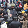 "Our window on Kiev - Several thousand hired ""concerned citizens"" making a show -- After an hour, Maidan brought out shields and organized squads, and the group left. ""Mr President, your antics don't deter us!"" was the gist.-"