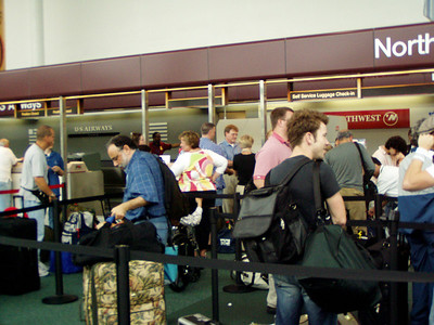 Checking In Nashville Airport.