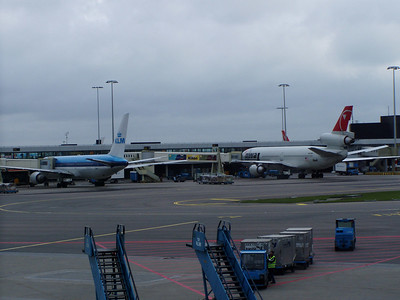 At Airport in Amsterdam
