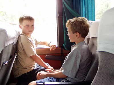 Artium and Andrew Turner on Bus